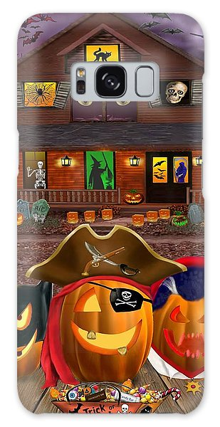 Pumpkin Masquerade Galaxy Case by Glenn Holbrook