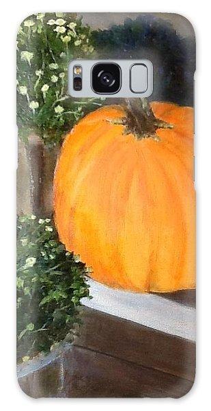 Pumpkin On Doorstep Galaxy Case