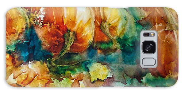 Pumpkin Patch Galaxy Case by Jani Freimann