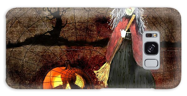 Pumpkinella The Magical Good Witch And Her Magical Cat Galaxy Case by Colleen Taylor