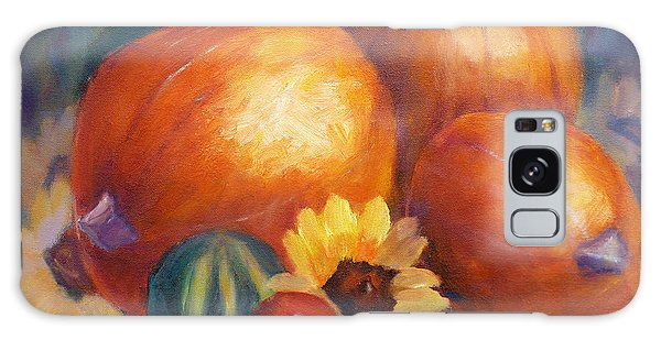 Pumpkins And Flowers Galaxy Case
