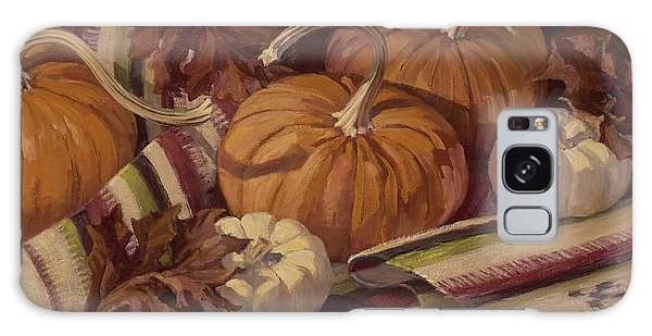 Pumpkins And Leaves Galaxy Case