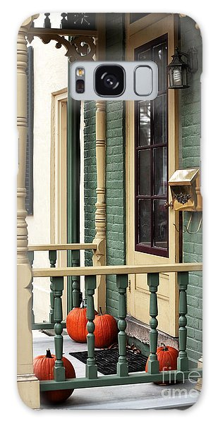 Pumpkins On The Porch Galaxy Case