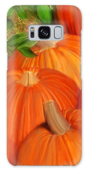 Galaxy Case featuring the painting Pumpkins Pumpkins Everywhere by Deborah Boyd