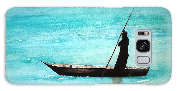 Punt Zanzibar Boat Galaxy Case by June Holwell