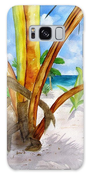 Punta Cana Beach Palm Galaxy Case
