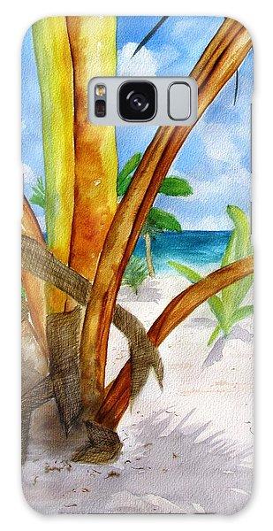 Punta Cana Beach Palm Galaxy Case by Carlin Blahnik