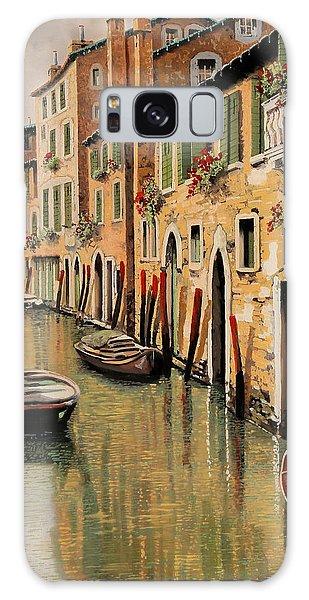Docked Boats Galaxy Case - Punte Rosse A Venezia by Guido Borelli