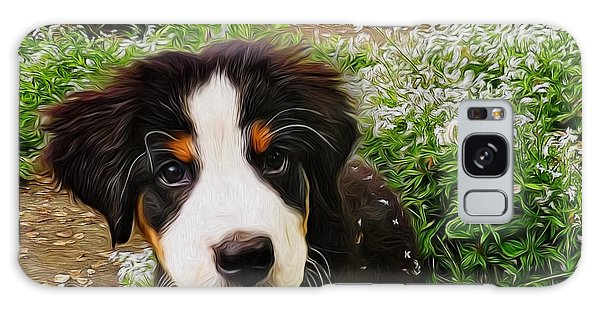Puppy Art - Little Lily Galaxy Case by Jordan Blackstone