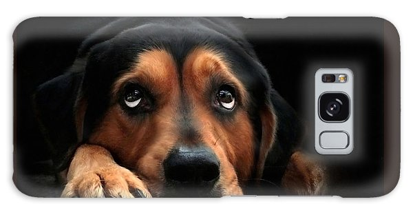 Galaxy Case featuring the mixed media Puppy Dog Eyes by Christina Rollo