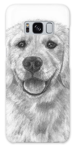 Puppy Golden Retriever Galaxy Case