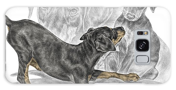 Puppy Love - Doberman Pinscher Pup - Color Tinted Galaxy Case