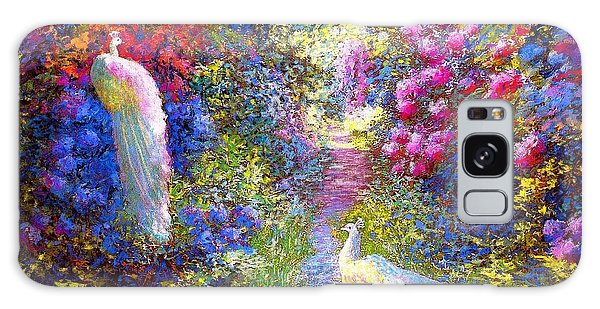 Sun Galaxy Case -  White Peacocks, Pure Bliss by Jane Small