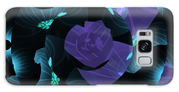Purple Abstract Galaxy Case by Linda Whiteside