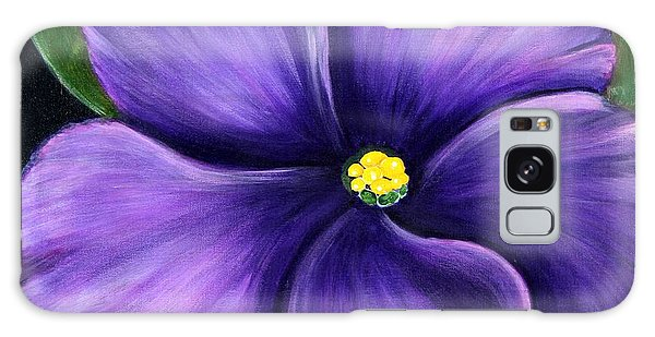 Purple African Violet Galaxy Case by Barbara Griffin