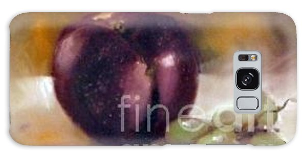 Purple And Grapes Galaxy Case by Sally Simon