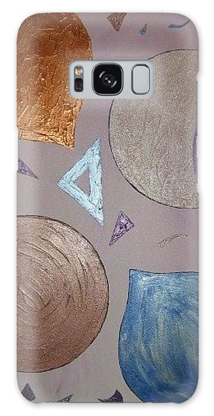 Purple And Metallic Shapes Galaxy Case by Barbara Yearty