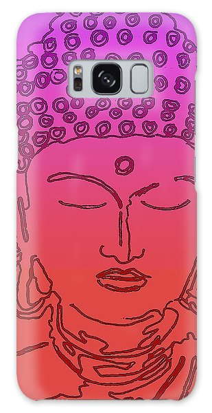 Purple And Red Buddha Galaxy Case by Christine Perry
