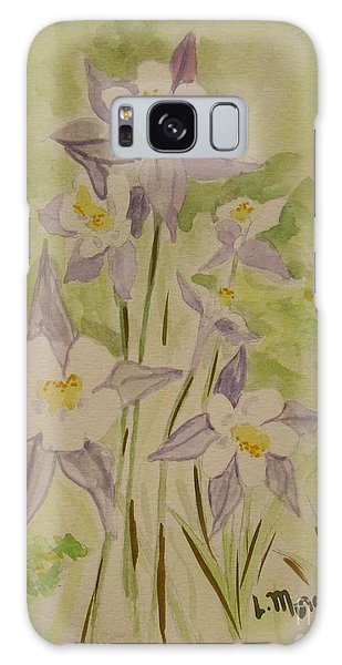 Purple And White Columbines Galaxy Case