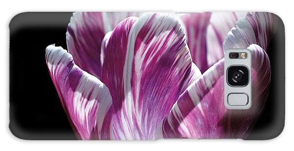 Purple And White Marbled Tulip Galaxy Case