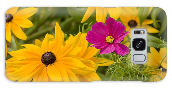 Purple And Yellow Flowers Galaxy Case