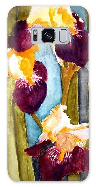 Purple And Yellow Iris Galaxy Case by Carol Grimes