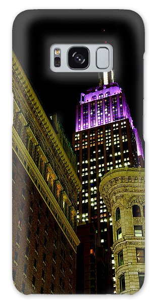 Purple Beacon Galaxy Case by Michael Dorn