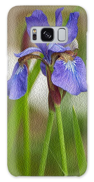 Purple Bearded Iris Oil Galaxy Case