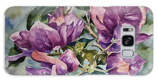 Purple Beauties - Bougainvillea Galaxy Case by Roxanne Tobaison