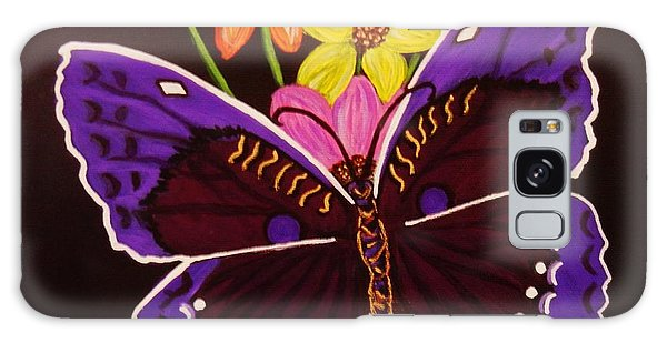 Purple Butterfly Galaxy Case