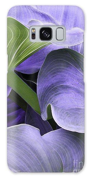 Purple Calla Lily Bush Galaxy Case