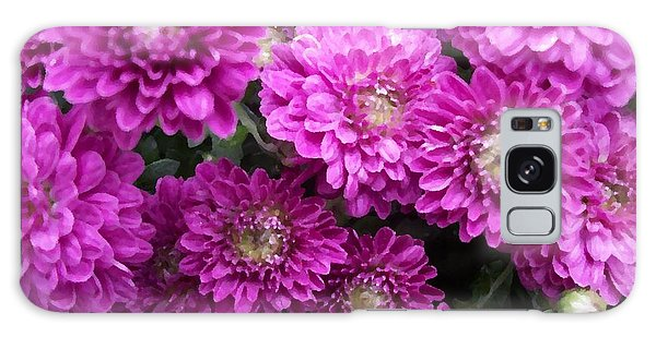 Purple Chrysanthemums Print Galaxy Case