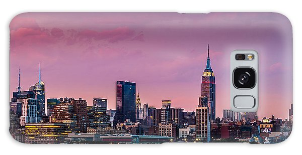 Purple City Galaxy Case by Mihai Andritoiu