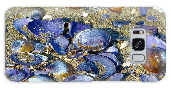 Purple Clam Shells On A Beach Galaxy Case