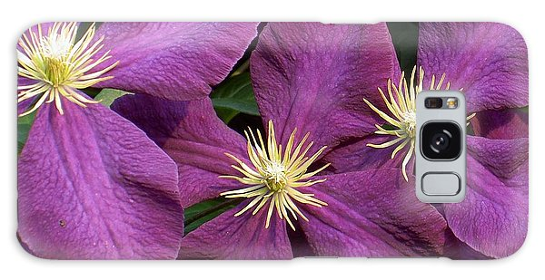 Purple Clematis Galaxy Case