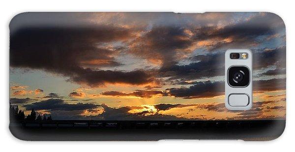 Purple Clouds Sunset  Galaxy Case