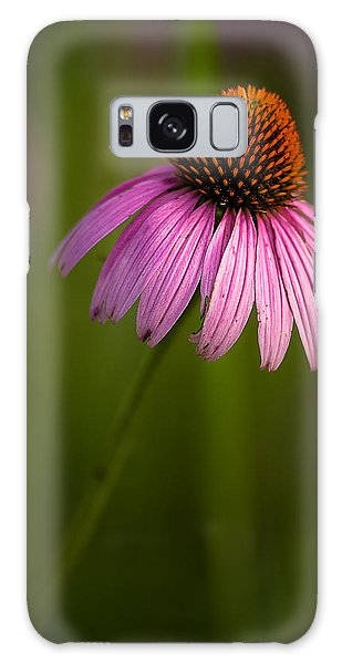 Purple Cone Flower Portrait Galaxy Case