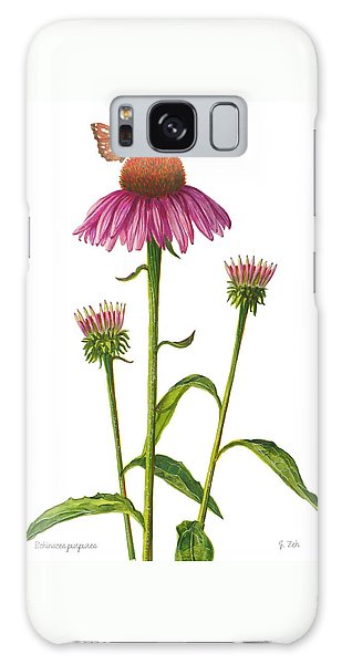 Purple Coneflower - Echinacea Purpurea  Galaxy Case
