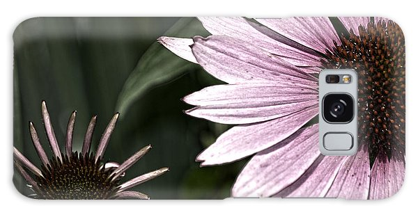 Purple Coneflower Imperfection Galaxy Case