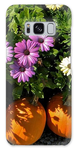 Purple Daisies And A Touch Of Orange Galaxy Case