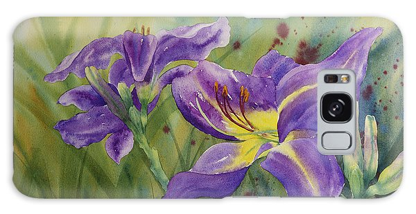 Purple Day Lily Galaxy Case