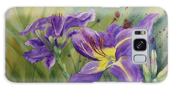 Purple Day Lily Galaxy Case