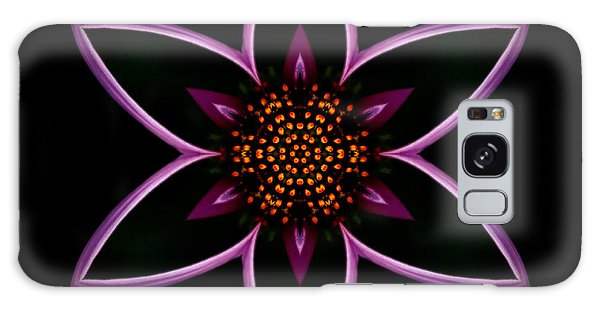 Purple Echinacea Flower Mandala Galaxy Case