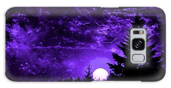 Purple Fantasy Sunset Galaxy Case