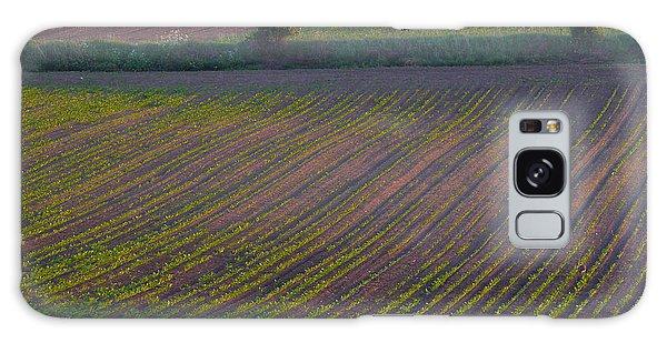 Purple Fields Galaxy Case by Evelyn Tambour