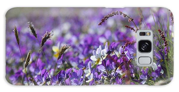 Purple Flower Bed Galaxy Case