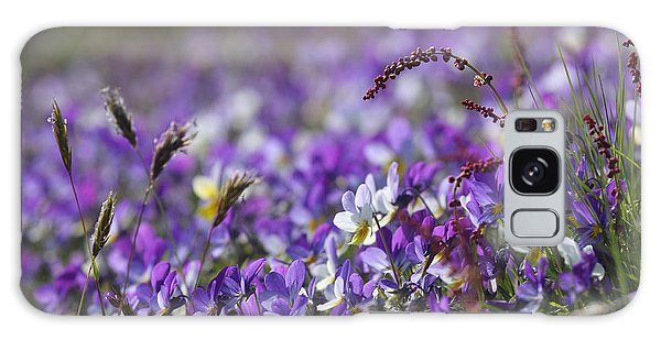 Purple Flower Bed Galaxy Case