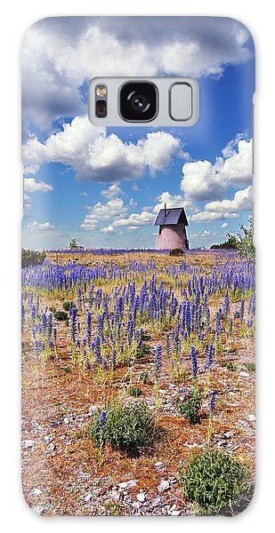 Purple Flower Countryside Galaxy Case
