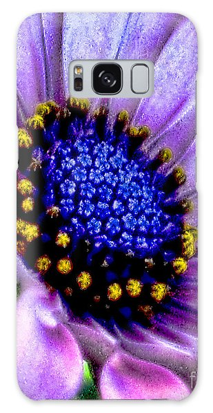 Purple Flower Sensation Galaxy Case