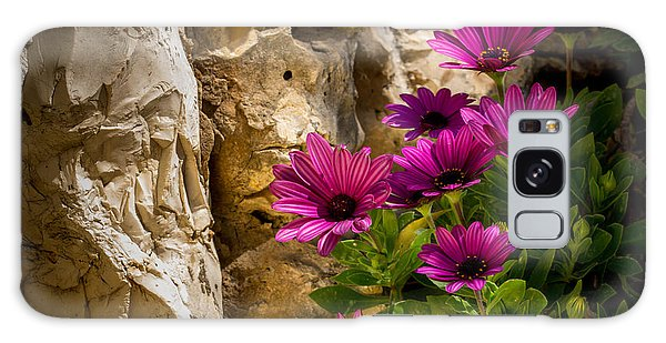 Purple Flowers And Rocks Galaxy Case